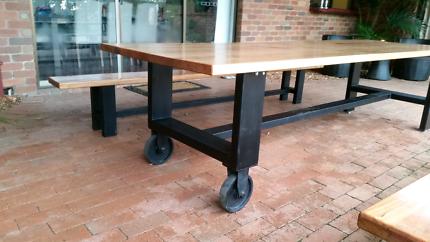 Indoor outdoor dinning table bench seats