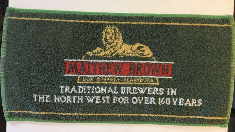 Vintage Beer Pub Bar Towel Matthew Brown Brewers In Northwest Aprox. 17 X 8 B923