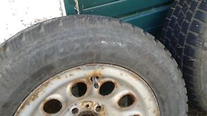 195/70-14 ArticClaw set tires and rims 6+mm tread asking $95 obo Kingston Kingston Area image 3