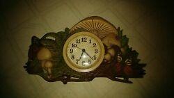 Burwood New Haven Quartz Mushroom & Butterflies Wall Clock 1975 Vntg Retro Kitch