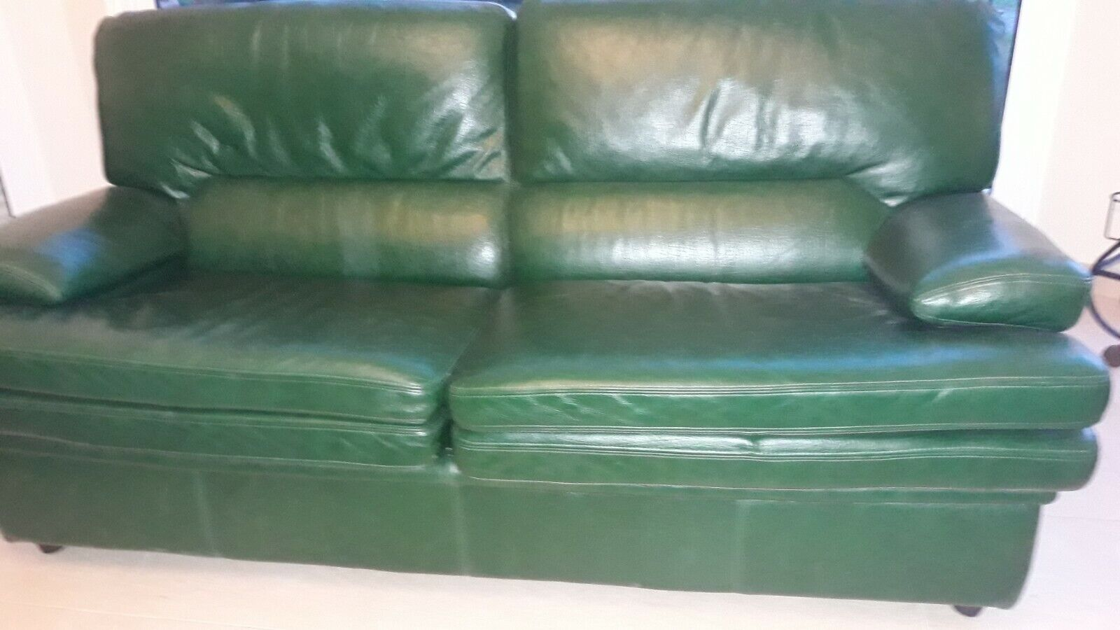 Canape 3 places convertible cuir vert