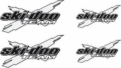 "Ski-doo racing checker snowmobile 2 sticker decal set 11/""x48/"" white"