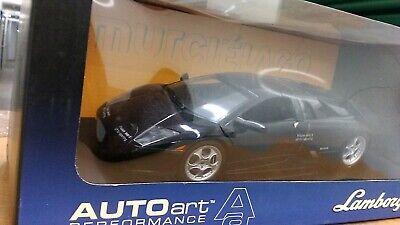 New 1:18 scale model by AutoArt Lamborghini Murcielago Coupe in Black.