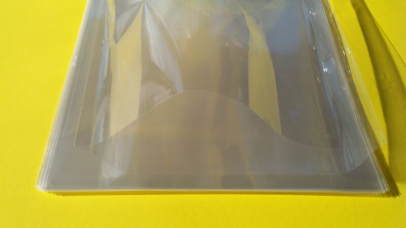 100ct  6x9 Photo Soft Poly Sleeves Bags  protectors 6 x 9 Flat covers