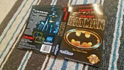 BOX ART ONLY Batman The Video Game Sunsoft Original Sega Genesis Case Sleeve