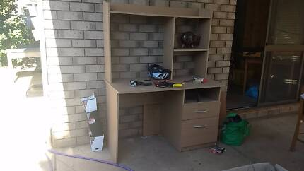 Desk with Drawer, Filing cabinet drawer and shelving