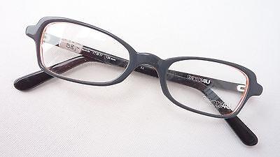 Brillenfassung Brille für Mädchen Frauen mit kleiner Form grau Kunststoff Gr. S