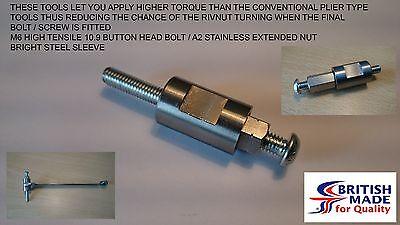 M6 Engineers Heavy Duty High Tensile (10.9) Rivnut Rivet Nut Nutsert Tool