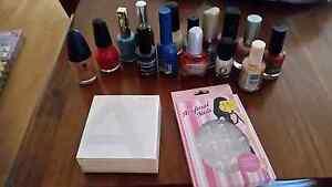 Nail polishes, false nails and Avon french polish kit