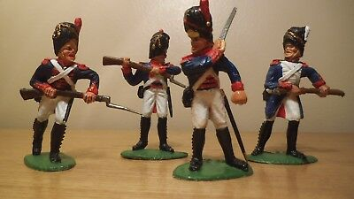 Collection of four Timpo solid French Grenadiers.