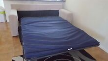 2.5 seater fabric couch with fold out sofa bed. Townsville City Preview