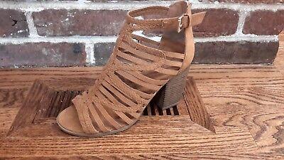 Indigo Rd. Irpaige-L Sandal Heel Strappy Brown Women's 8M