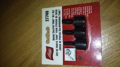 Brake Caliper Torx Bit Set / Includes sizes T-40, T-45, & T-50 Lisle 27740 ()