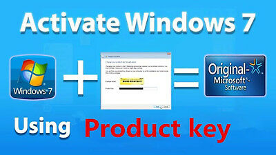 Windows 7 Professional 32/64 Bit Retail Genuine Activation Key, Send In 2 Min