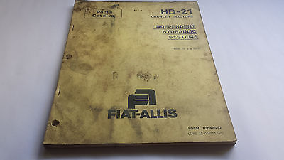 Fiat-allis Parts Catalog Hd-21 Crawler Tractors Independent Hydraulic Systems