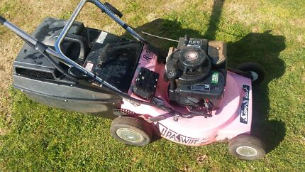 Lawn mower with catcher! Has electric start! Penguin Central Coast Preview