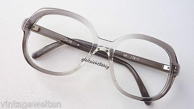 Vintagebrille Brille Fassung Damen Große Gläser Kunststoff Hell 70er Grösse M Augenoptik Sonnenbrillen & Zubehör