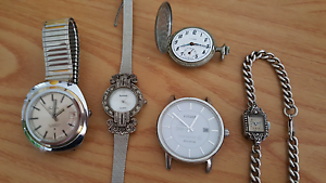 4 Wristwatches & 1 Pocket Watch Kensington Eastern Suburbs Preview