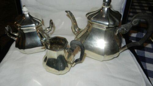 Vintage c1950 Superb Dutch .833 Silver 3pc Tea Set by JM Van Kempen