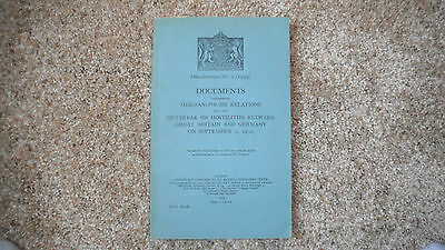 Miscellaneous No.9 DOCUMENTS concerning German - Polish Relations September 1939