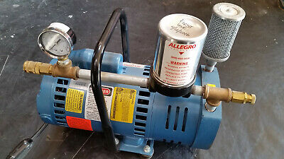 Gast Emerson 1023-p152-g608nex Rotary Vane Compressor Vacuum Pump 115v