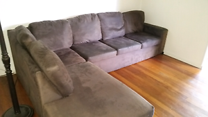 2-piece corner lounge with chaise SOLD PENDING COLLECTION Wishart Brisbane South East Preview