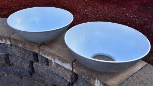 "Unbranded Set of 2 18"" Beauty Dish Reflectors Bowens L Mount (#3563)"