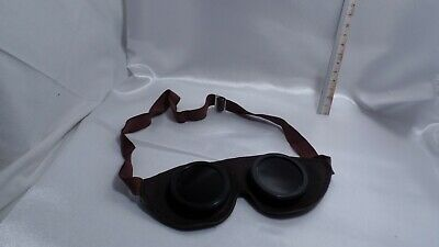 Vintage Welding Safety Glasses Soviet Russian Ussr Antique Round Protective 9367