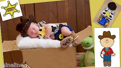 ★★★ NEU Baby Fotoshooting Kostüm 5Tlg. Kleiner Cowboy 0-6 Monate ★★★AD