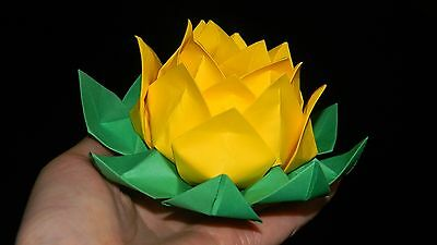 Origami Lotus Flower-yellow