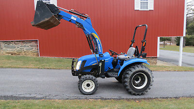 2008 New Holland T2220 4x4 Compact Tractor W Loader Hydro 34hp Diesel 185 Hours