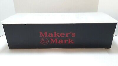 Makers Mark Black 6 Slot Condiment Tray Bar Game Room Brewmania Bar Caddy