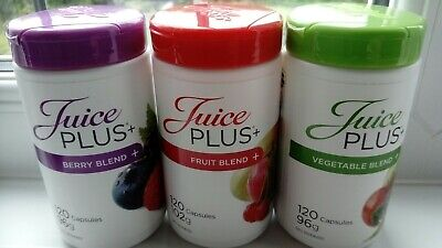 Juice plus capsules 3 x 120, Berry, Fruit and Veg new sealed from 04/2020
