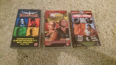 WCW WWF WWE VHS Video Uncesored Spring Stampede Halloween Havoc Rarität Rar