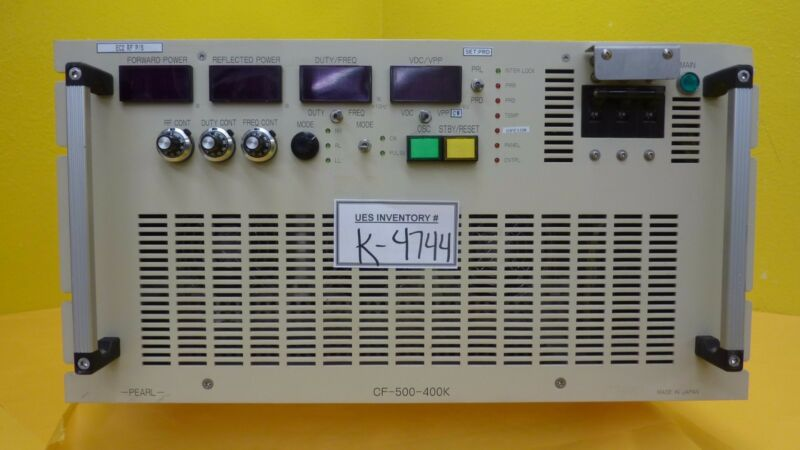 Pearl Kogyo Cf-500-400k(ce) Rf Power Supply Hitachi M-712e Used Working