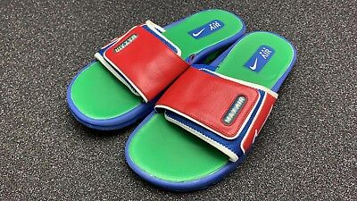Nike Air Max Moray Slide Sandals Used Size 9 Blue Green Red Made In 2007 Sampl