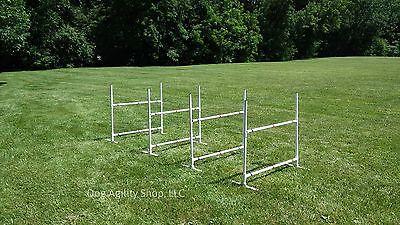 Dog Agility Equipment | Single Bar Jumps | 4 Jumps total!
