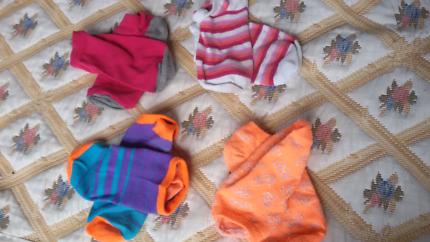 colourful ankle socks for women