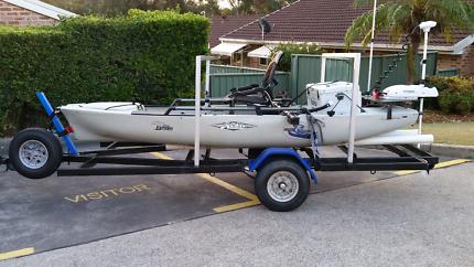 2015 Hobie PA12, 65lb elec motor + trailer