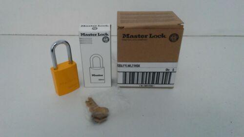LOT OF (6) NEW IN BOX! MASTER LOCK KEYED DIFFERENTLY PADLOCKS 6835LFYLWLZ1HSK