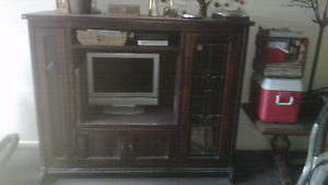 Entertainment wall unit Quality Walnut wood tv cabinet Woonona Wollongong Area Preview