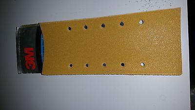 3M P60 Production Paper 255P Gold Abrasive Pack (5 Sheets) 10 hole 115 x 280mm