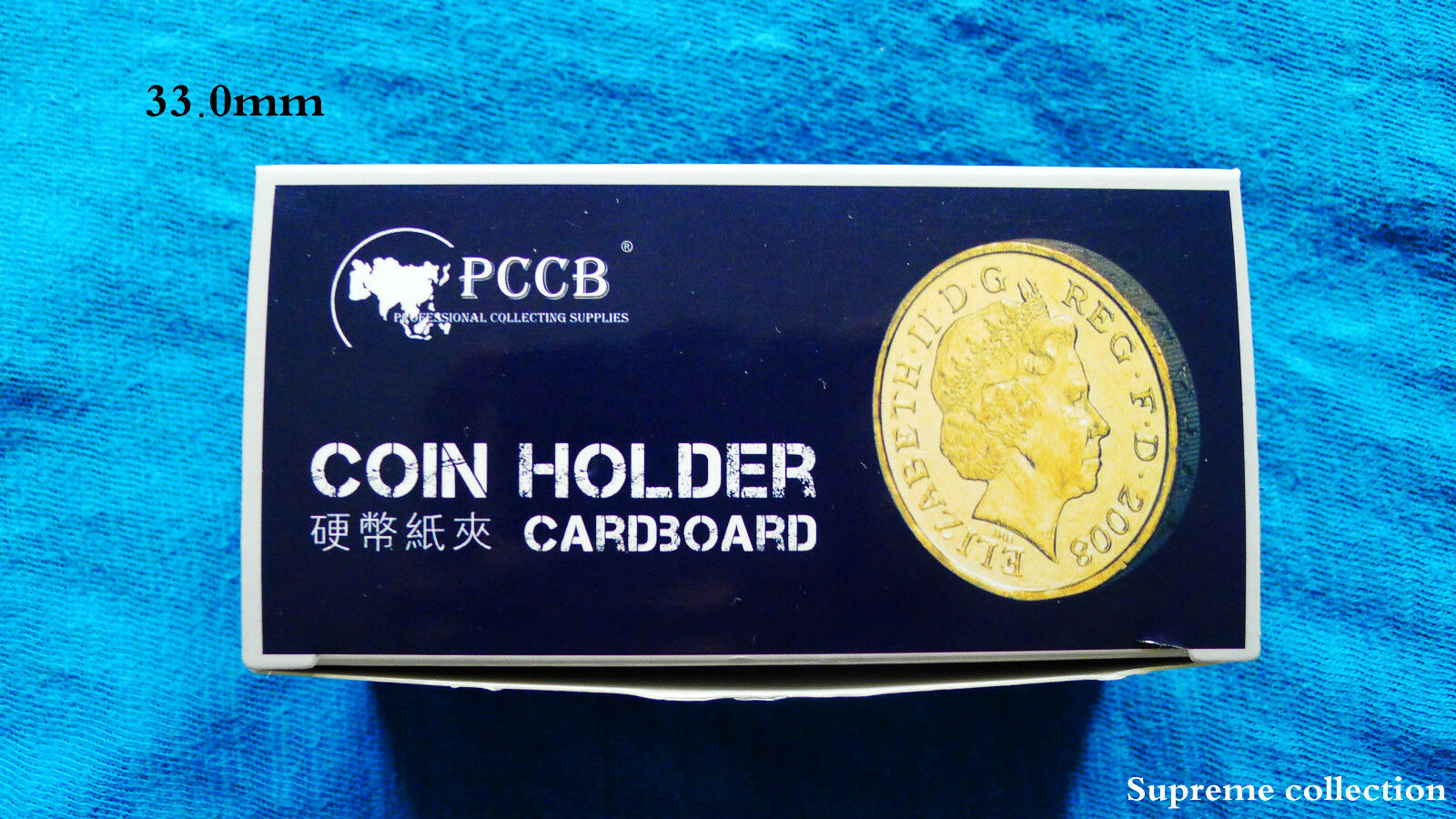 NEW 100 PCS COIN HOLDERS 2 X 2 CARDBOARD MYLAR FLIPS  DIAMETER 33MM NEW