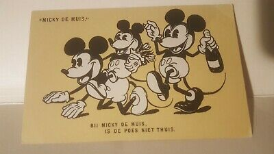 1930s Mickey Mouse post card.