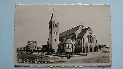 Knocke sur Mer aan zee L'église du Sacré-Coeur Heilig Hart Kerk 1950