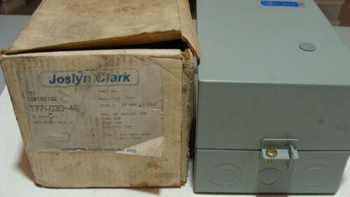 JOSLYN CLARK  T77U030  NEMA size 0 Contactor/ Starter with Enclosure GENUINE NEW