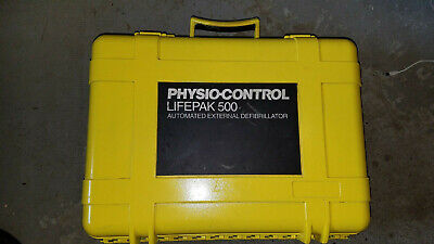 Lifepak 500 External Aed Defibrillator Carrying Pelican Waterproof Case Only