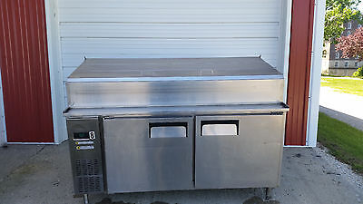 Everest Eppr2 Pizza Sandwich Salad Prep Table Mega Top Tested 115v