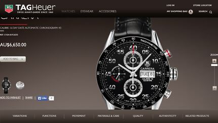 TAG HEUER Carrera Calibre 16 (Brand New with 2 year warranty) Indooroopilly Brisbane South West Preview