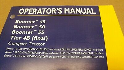 New Holland Boomer 45 50 55 Tier 4b Final Compact Tractor Operators Manual